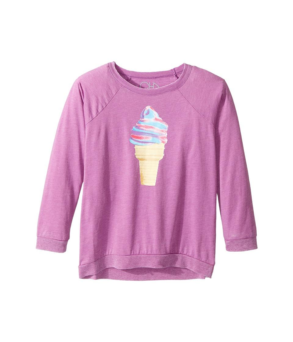 Chaser Kids - Vintage Jersey Long Sleeve Raglan T-Shirt (Little Kids/Big Kids) (Ice Cream Swirl/Daydream) Girl's Clothing
