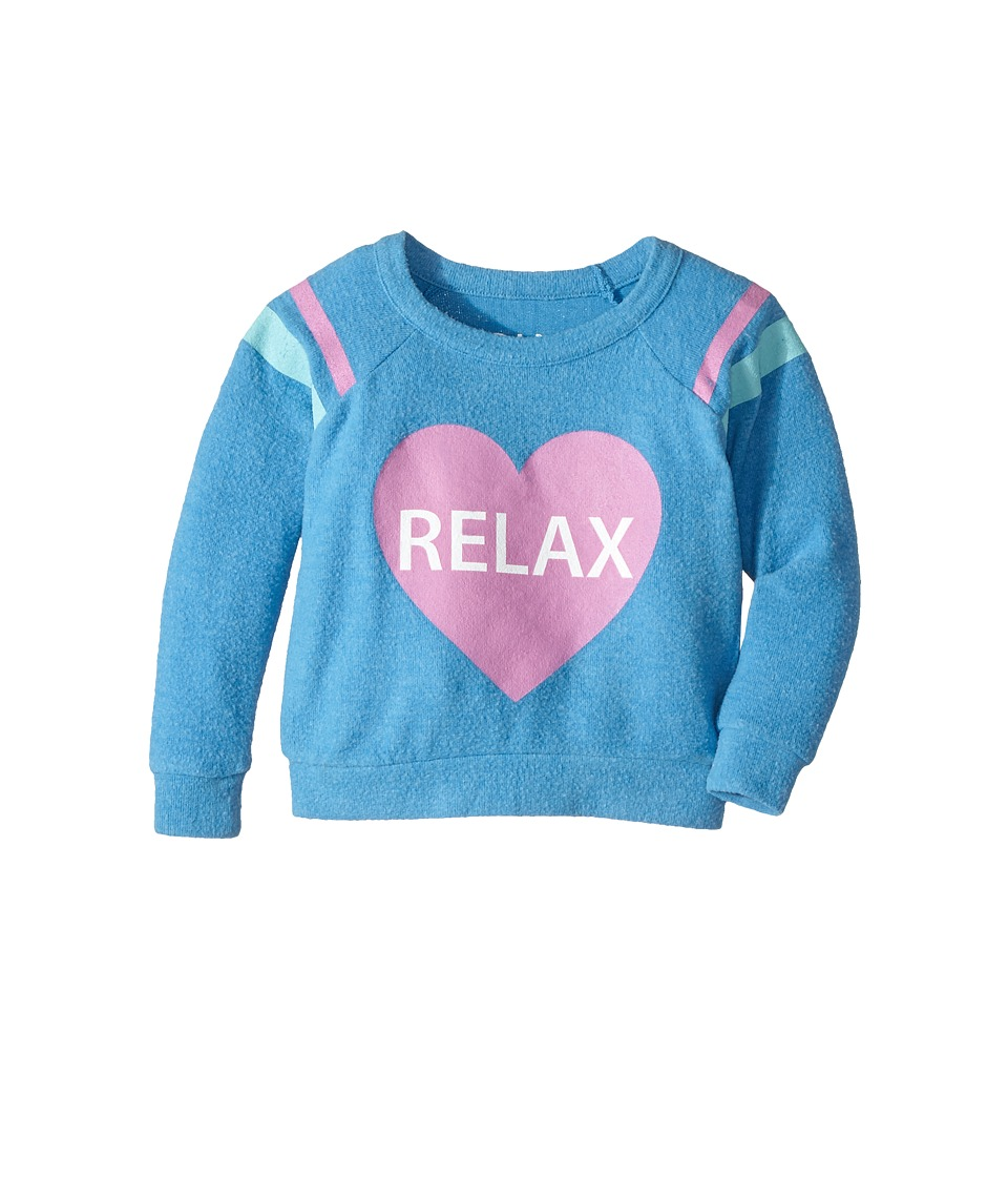 Chaser Kids - Love Knit Raglan Pullover (Toddler/Little Kids) (Relax/Pool) Girl's Clothing