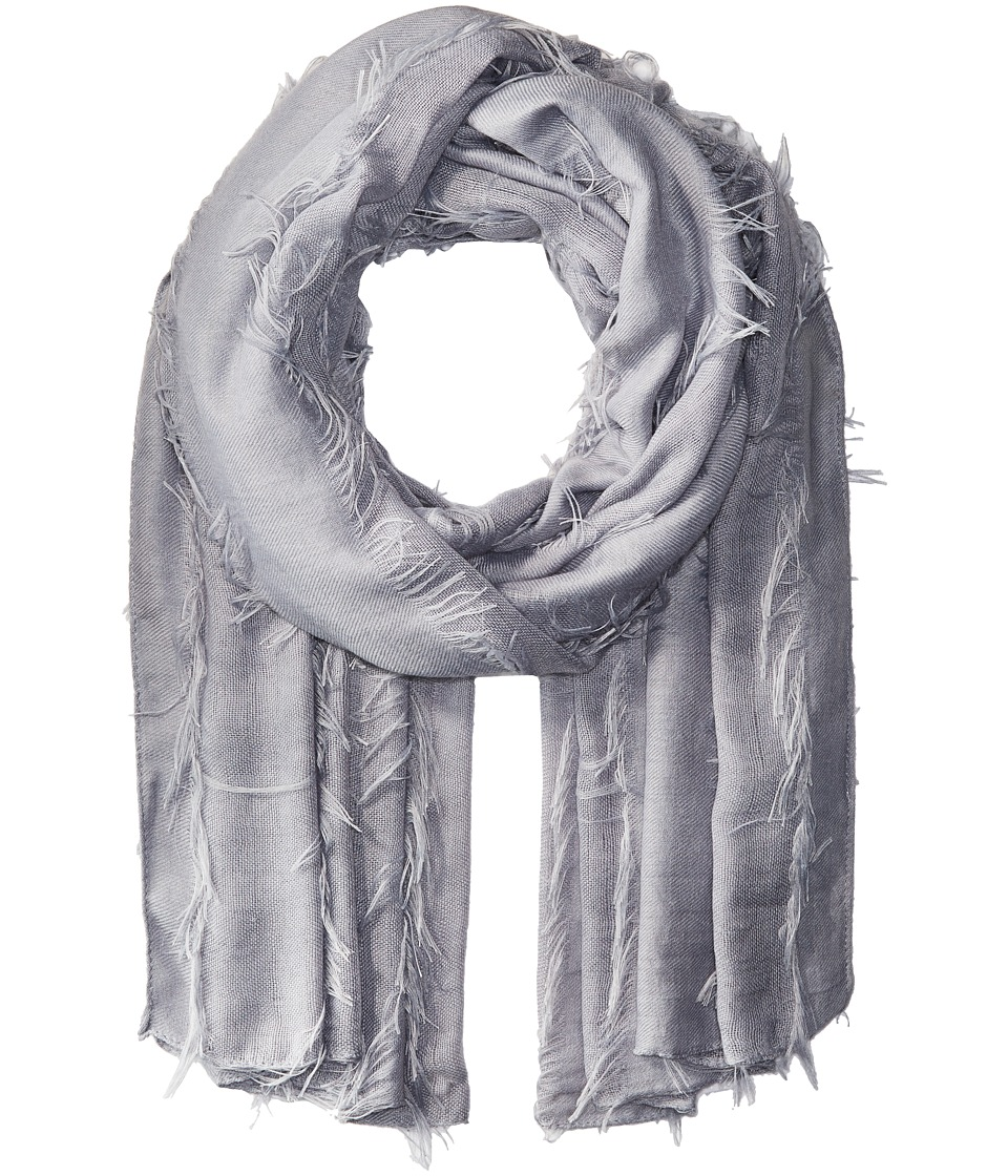 Bindya - Fringe Scarf (Grey) Scarves