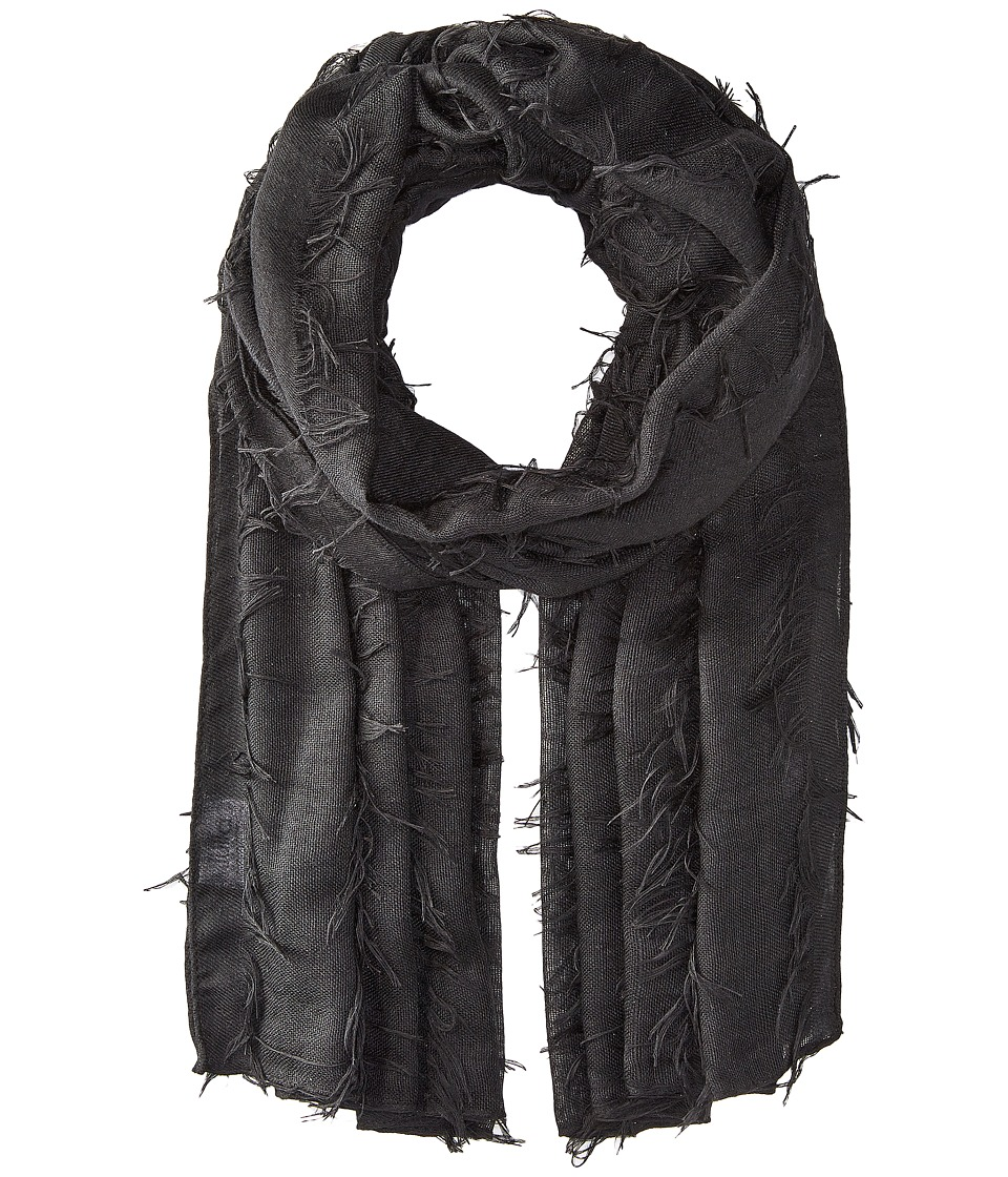 Bindya - Fringe Scarf (Black) Scarves