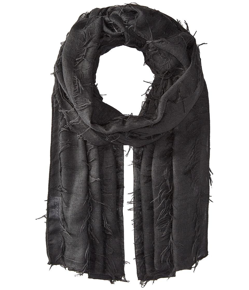 Bindya - Fringe Scarf (Black) Scarves