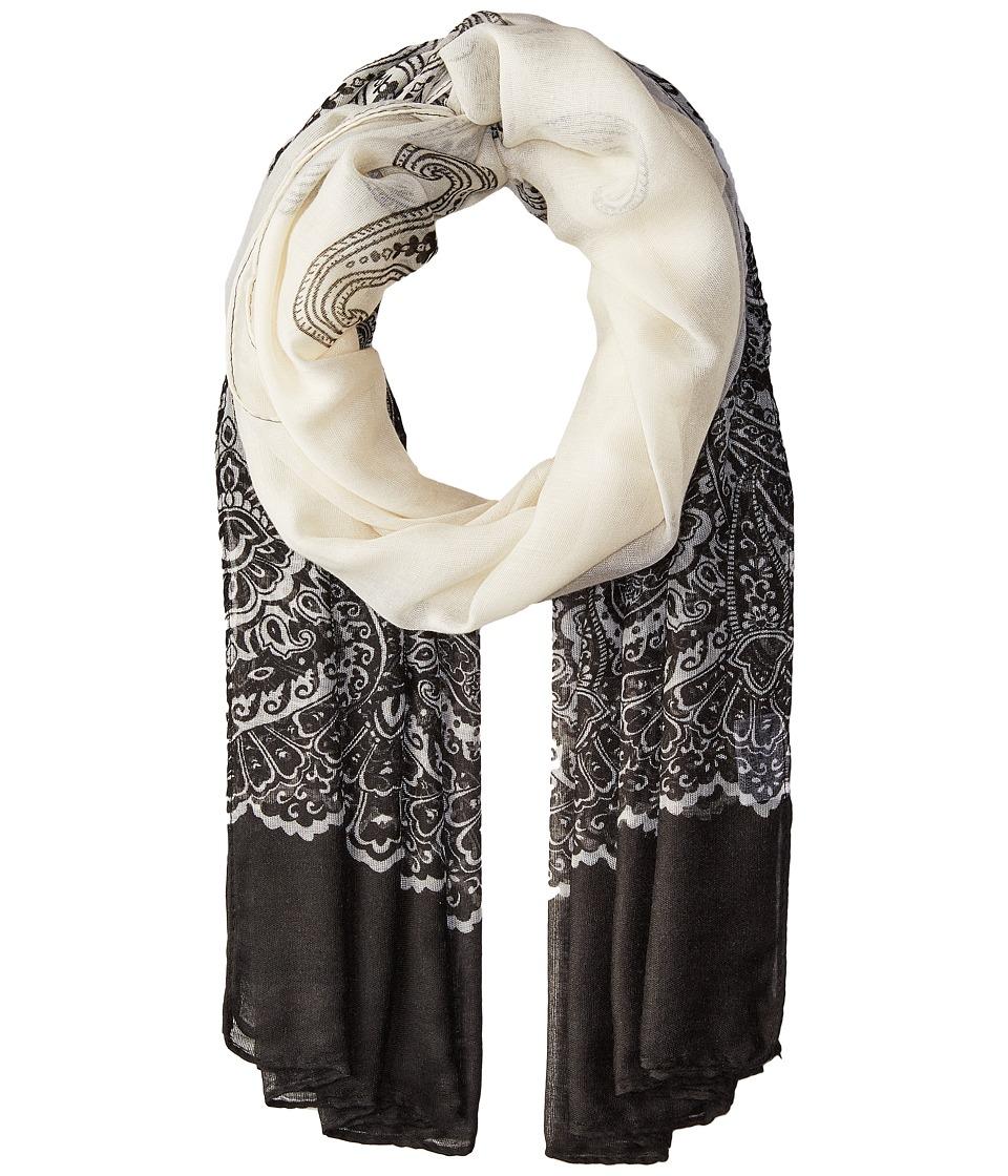 Bindya - Paisley Scarf (White) Scarves
