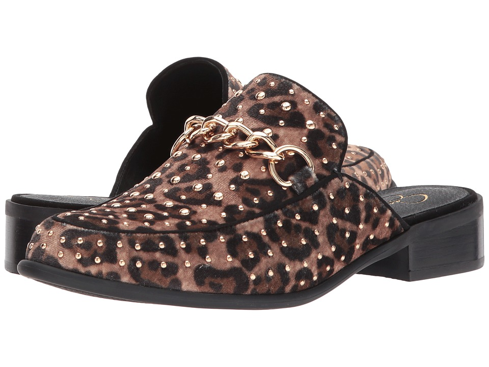 Jessica Simpson Beez (Natural Alicia Leopard Print Velvet) High Heels