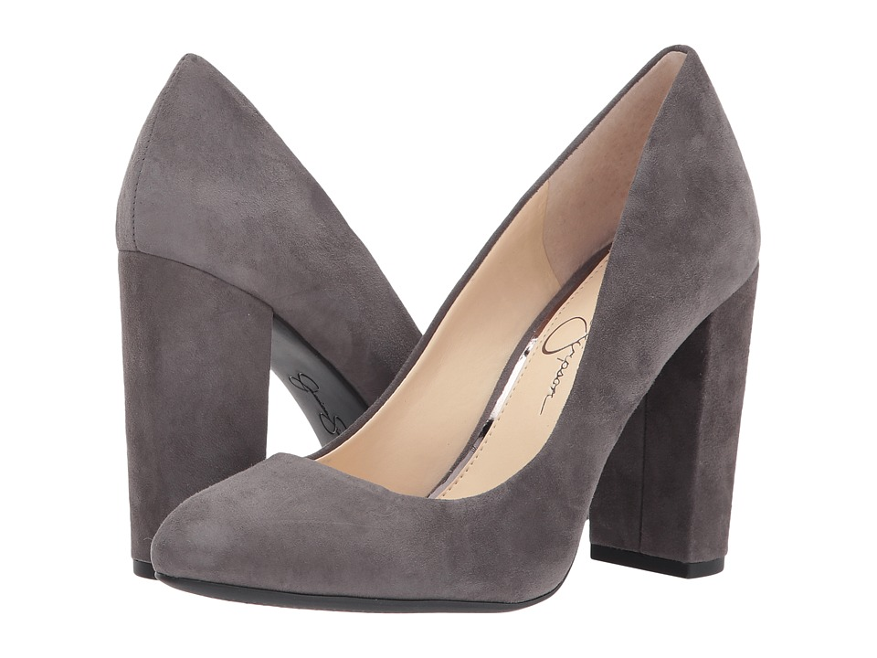 Jessica Simpson Belemo (Really Grey Lux Kid Suede) High Heels