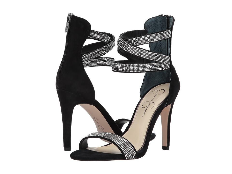 Jessica Simpson Elepina (Black Lux Kid Suede) High Heels