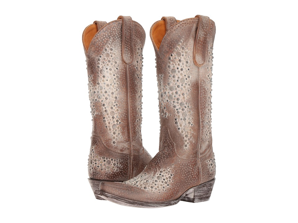 Old Gringo Eagle Metal (Tan Leopard) Cowboy Boots