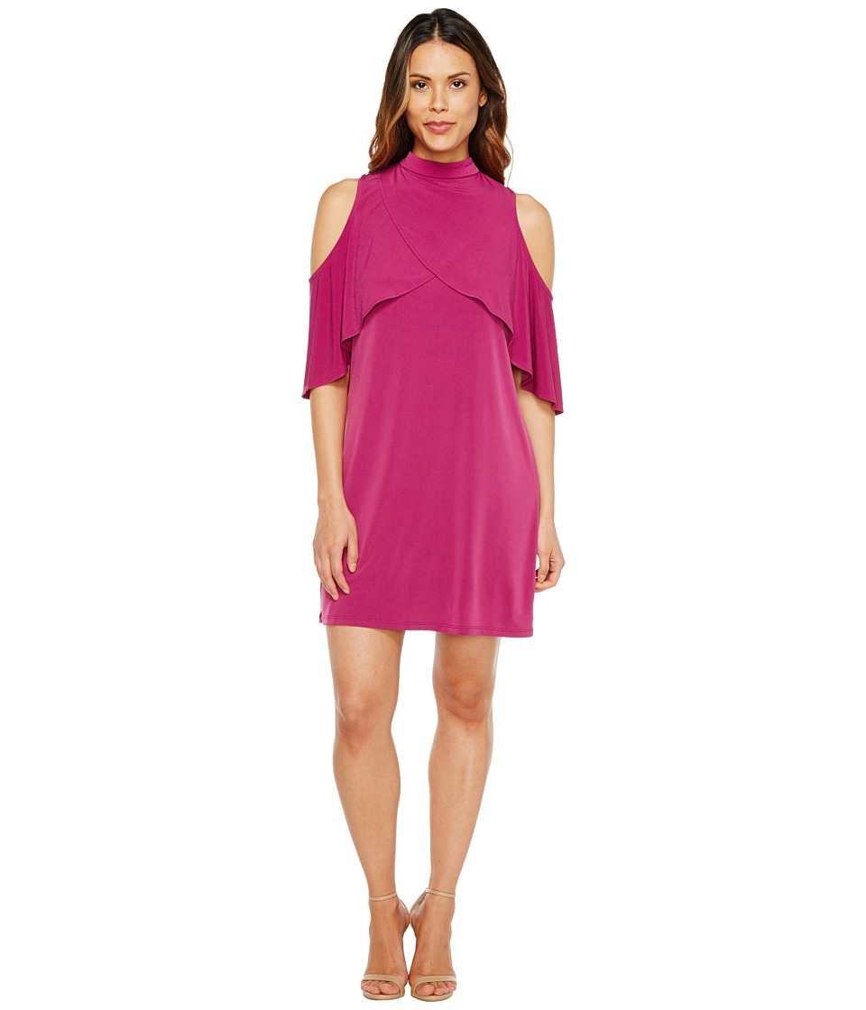 London Times MJ Tiered Shift Dress w/ Neckband (Fig) Women