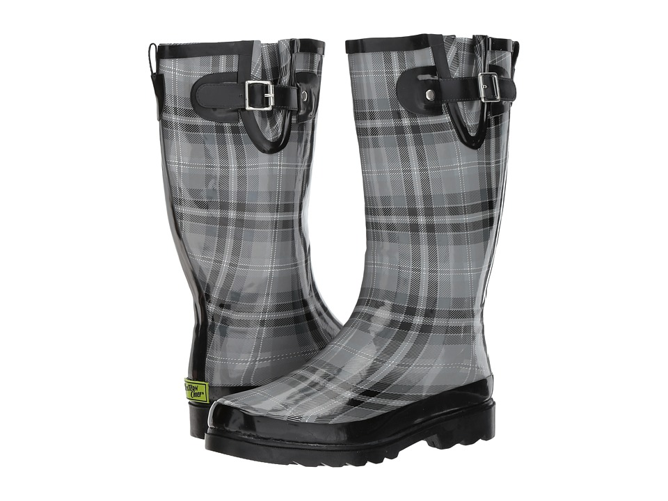 Western Chief Highland Plaid (Charcoal) Women
