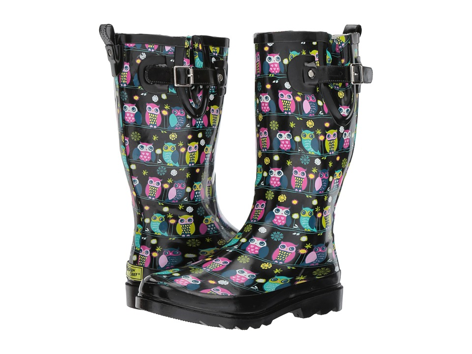 Western Chief - Owl Branch (Black) Women's Rain Boots