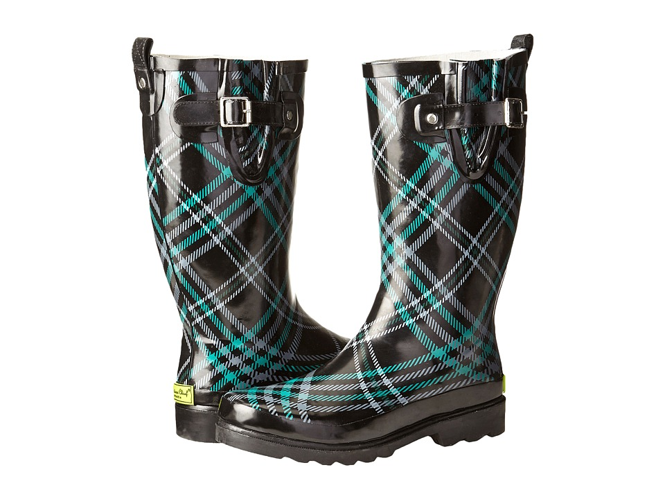 Western Chief - Chevy Plaid Rainboot (Emerald) Women's Rain Boots