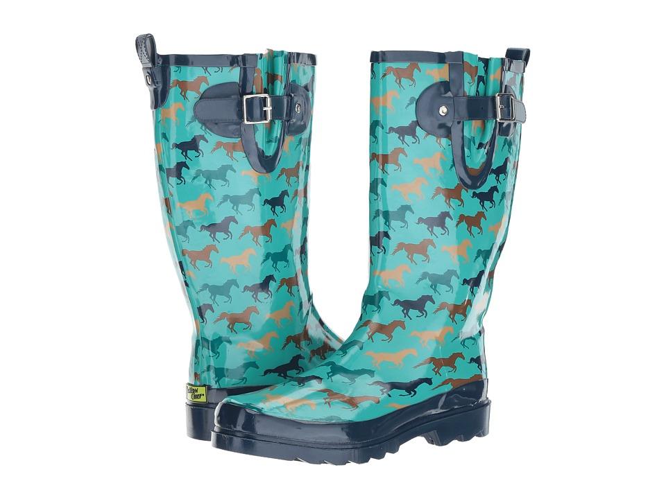 Western Chief - Horse Run (Dark Teal) Women's Rain Boots