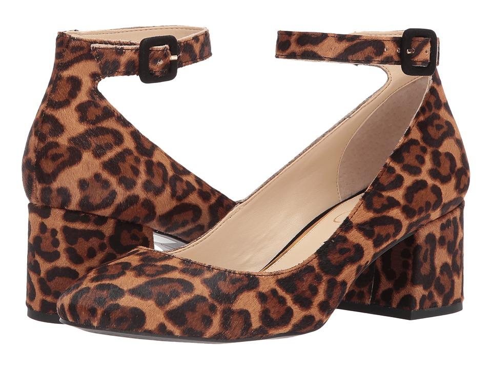 Jessica Simpson Mayven 2 Natural Alicia Leopard Haircalf High Heels