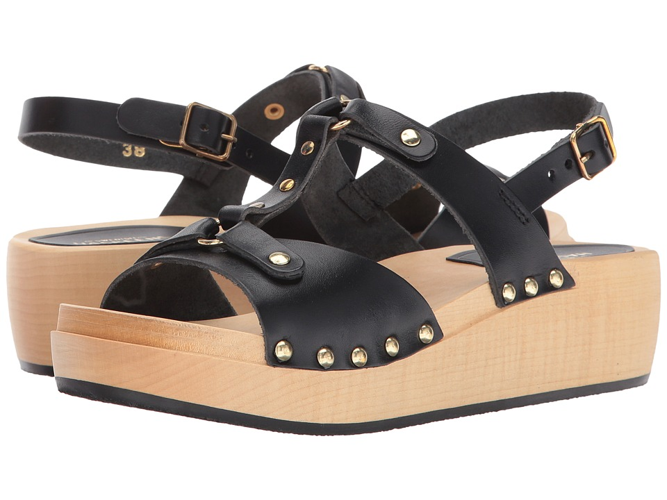 Swedish Hasbeens - Rivet Sandal (Black) Women's Shoes