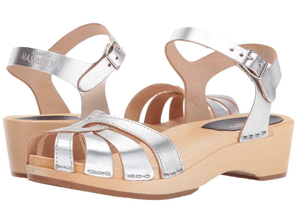 Swedish Hasbeens - Cross Strap Debutant (Silver) Women's Sandals