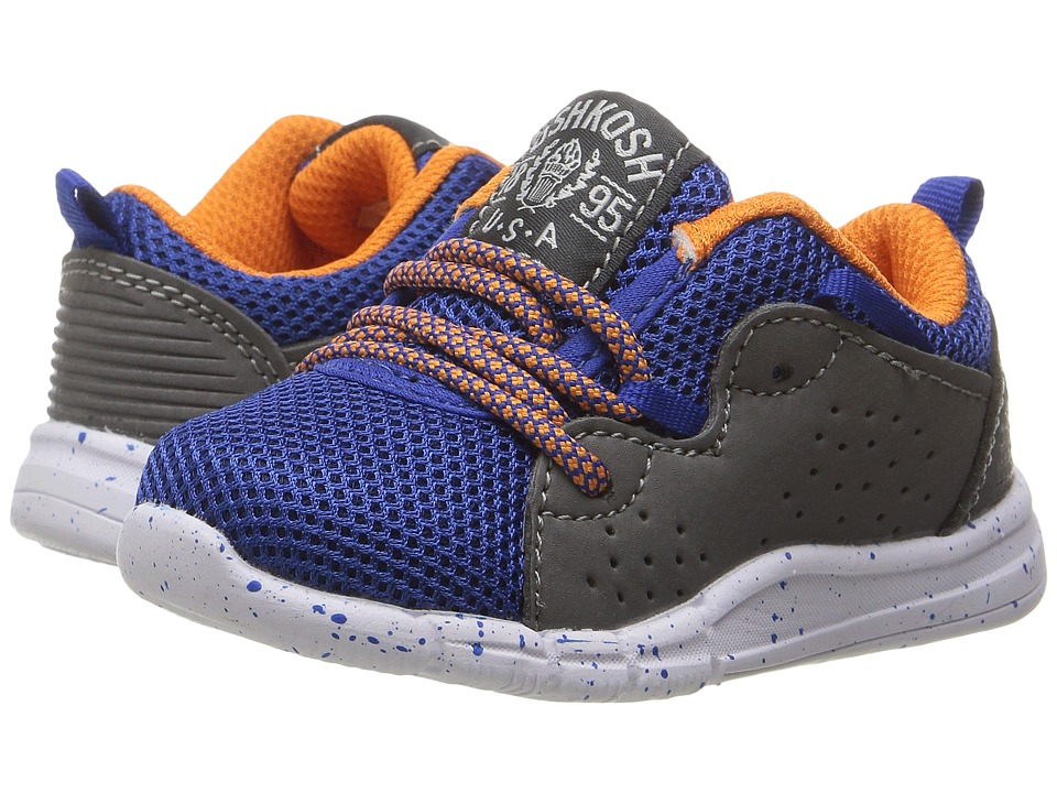 OshKosh - Brooks-B (Toddler/Little Kid) (Blue/Orange) Boy's Shoes