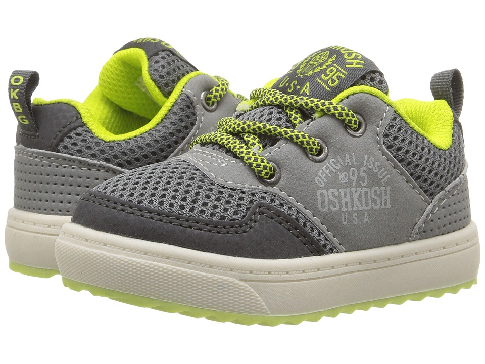 OshKosh - Baxter-B (Toddler/Little Kid) (Grey/Neon) Boy's Shoes