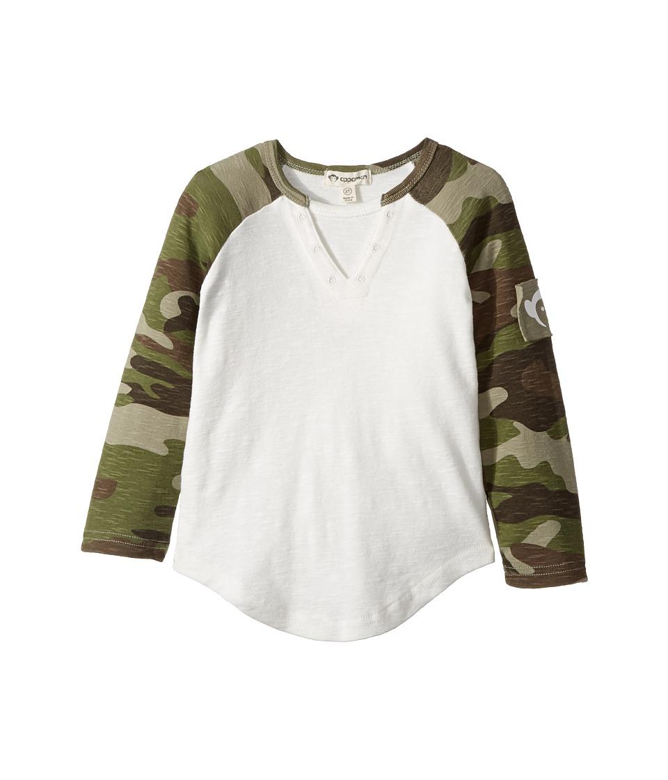 Appaman Kids - Vintage Long Sleeve Baseball Tee (Toddler/Little Kids/Big Kids) (White) Boy's T Shirt