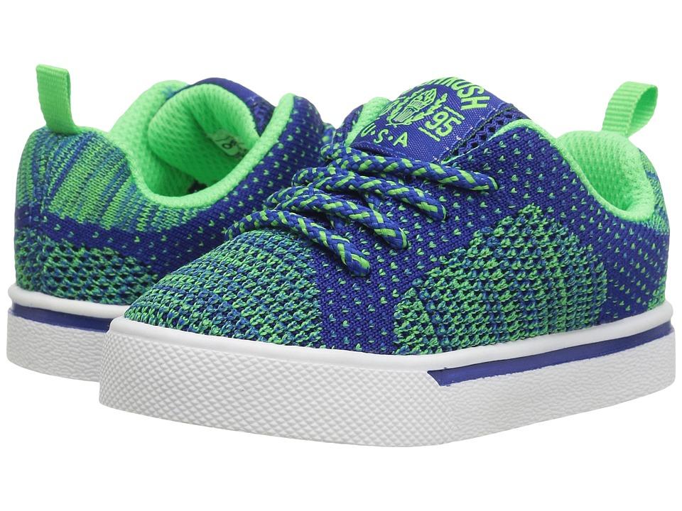 OshKosh - Riley-B (Toddler/Little Kid) (Blue/Neon) Boy's Shoes