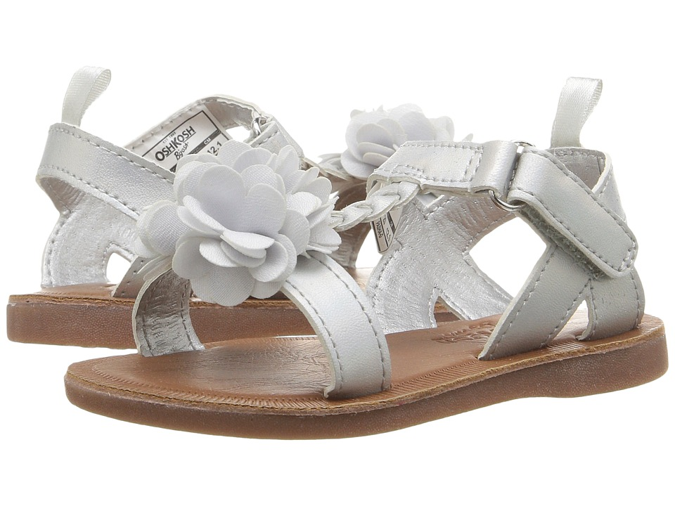 OshKosh - Pasha-G (Toddler/Little Kid) (Silver) Girl's Shoes