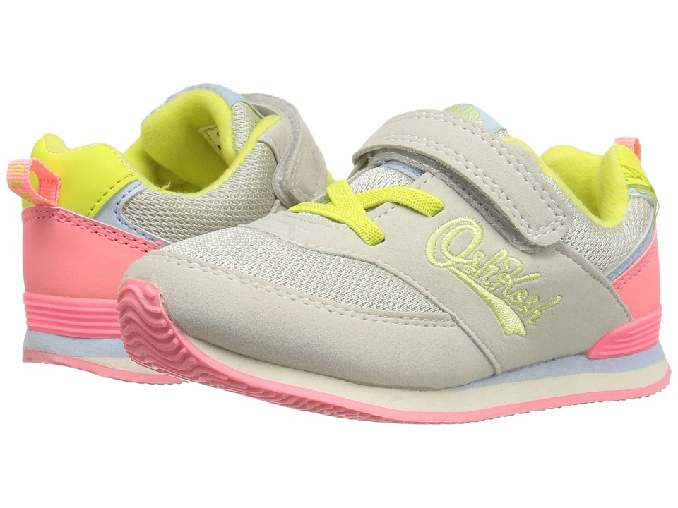 OshKosh - Rudie-G (Toddler/Little Kid) (Khaki/Coral/Neon) Girl's Shoes