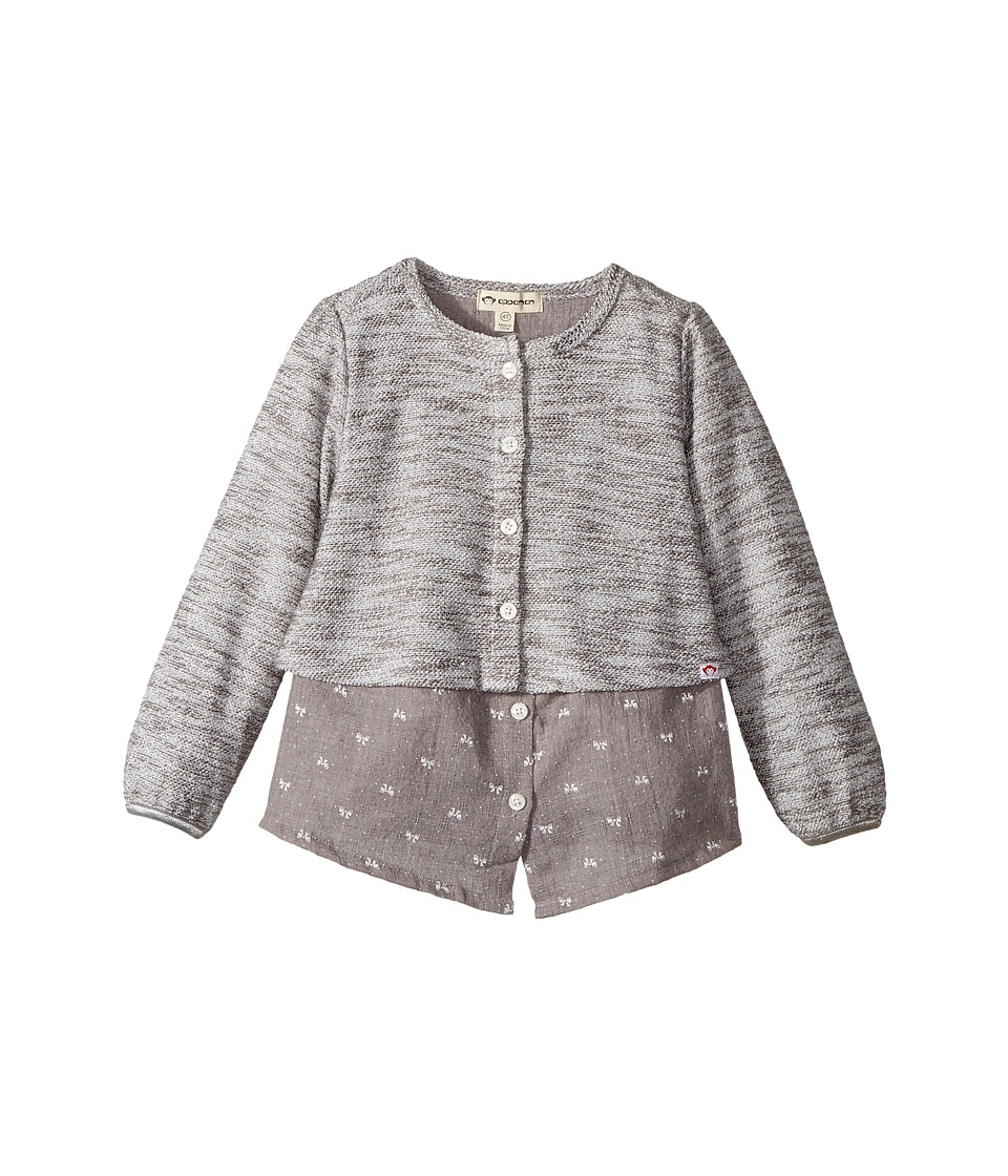 Appaman Kids - Ara 2-in-1 Connected Top (Toddler/Little Kids/Big Kids) (Boulder Grey) Girl's Clothing