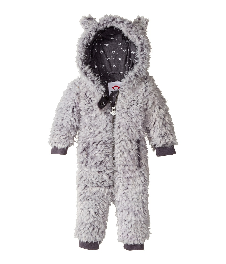 Appaman Kids - Ultra Soft and Fuzzy Lined Sycamore Hooded Jumpsuit (Infant) (Ivory) Girl's Jumpsuit & Rompers One Piece