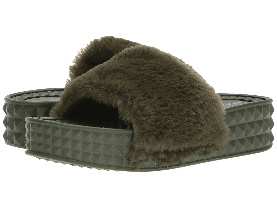 Dirty Laundry Sonny Fur (Army Green) Women