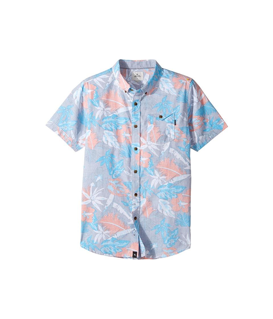 Rip Curl Kids - Sun Glaze Short Sleeve Shirt (Big Kids) (Blue) Boy's T Shirt