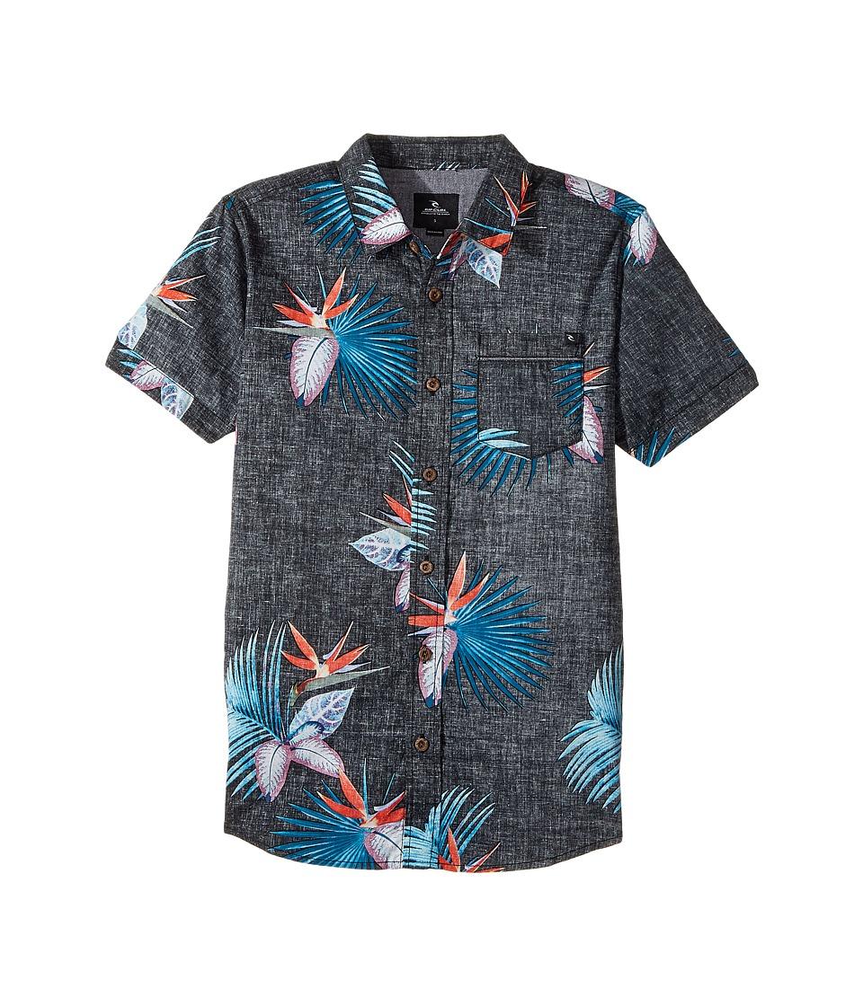 Rip Curl Kids - Manzanillo Short Sleeve Shirt (Big Kids) (Black) Boy's Short Sleeve Pullover