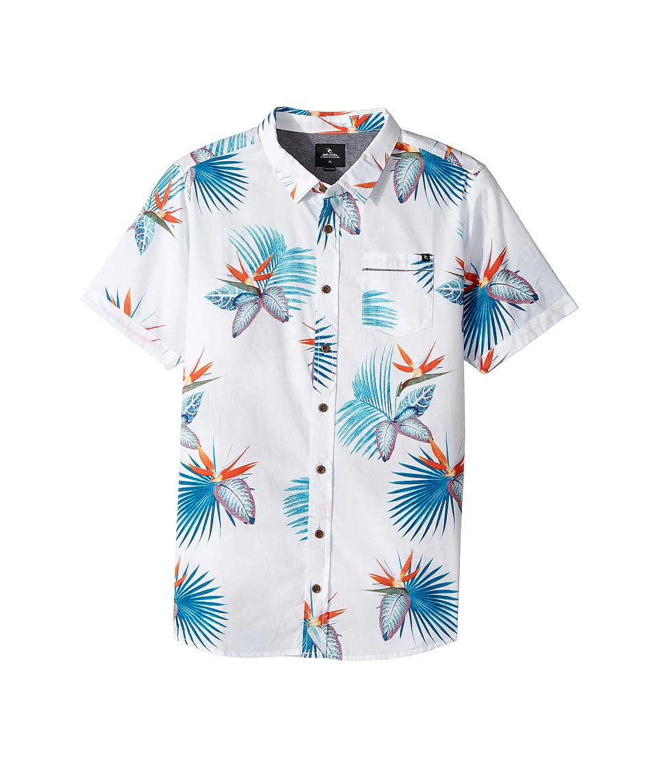 Rip Curl Kids - Manzanillo Short Sleeve Shirt (Big Kids) (Off-White) Boy's Short Sleeve Pullover