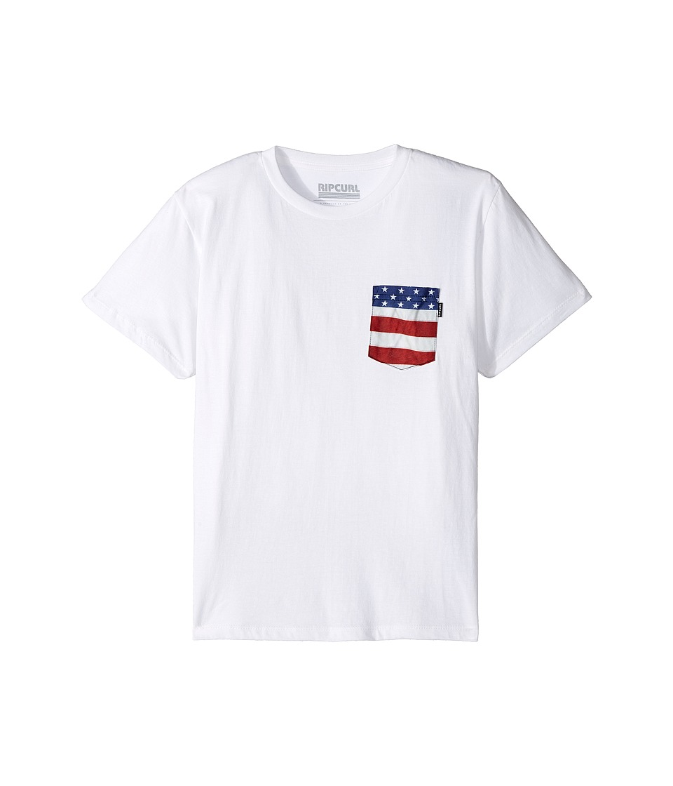 Rip Curl Kids - Staple Premium Pocket Tee (Big Kids) (Cream) Boy's T Shirt