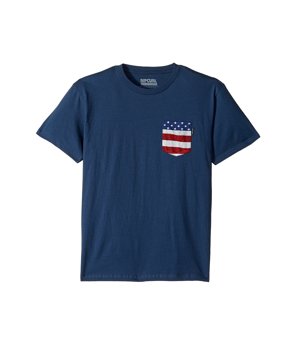 Rip Curl Kids - Staple Premium Pocket Tee (Big Kids) (Navy) Boy's T Shirt