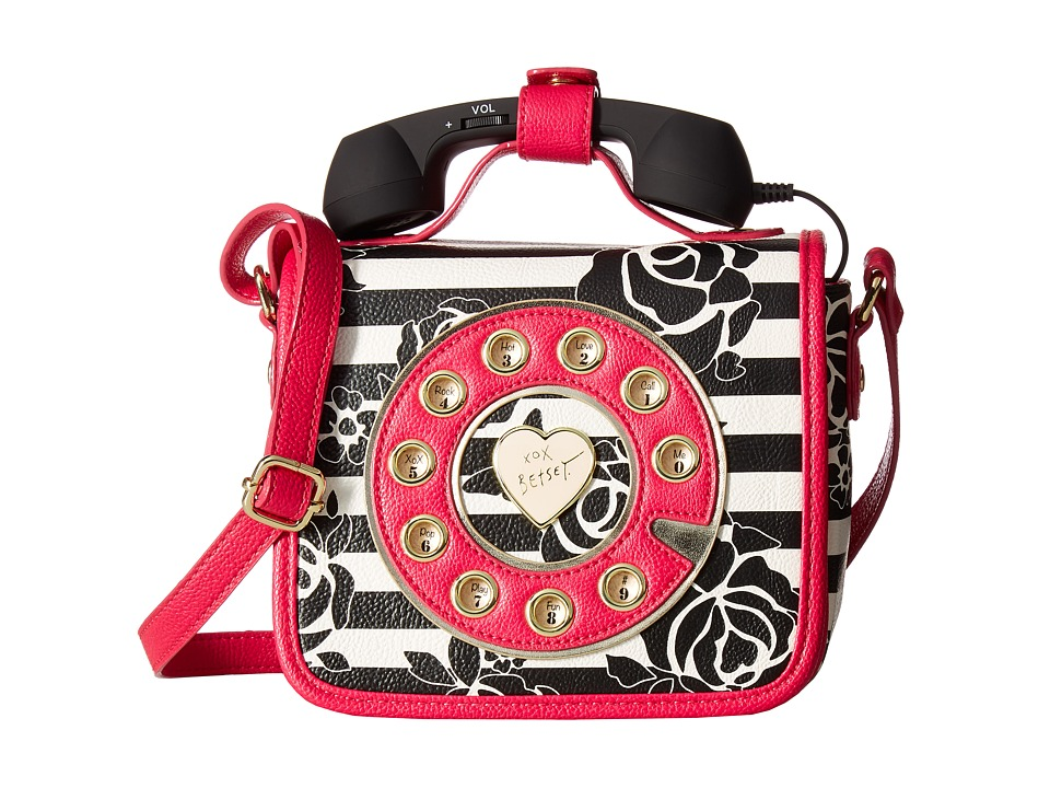 Betsey Johnson - Phone Bag Crossbody (Stripe) Cross Body Handbags