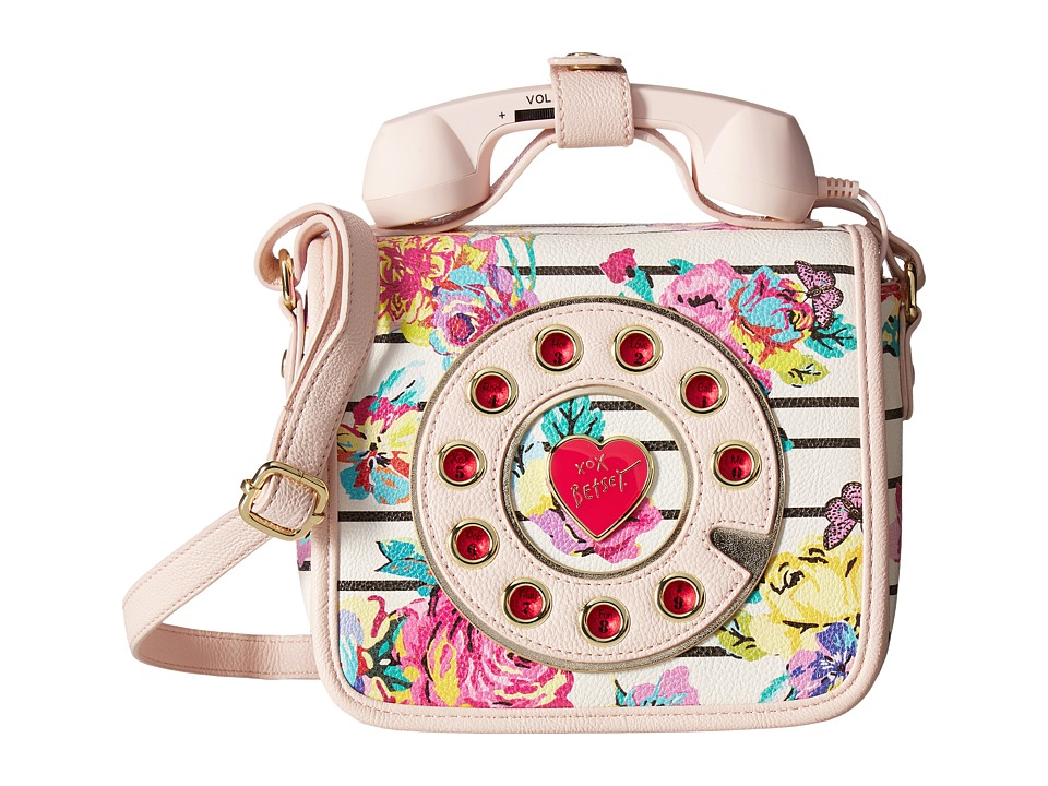 Betsey Johnson - Phone Bag Crossbody (White Floral) Cross Body Handbags