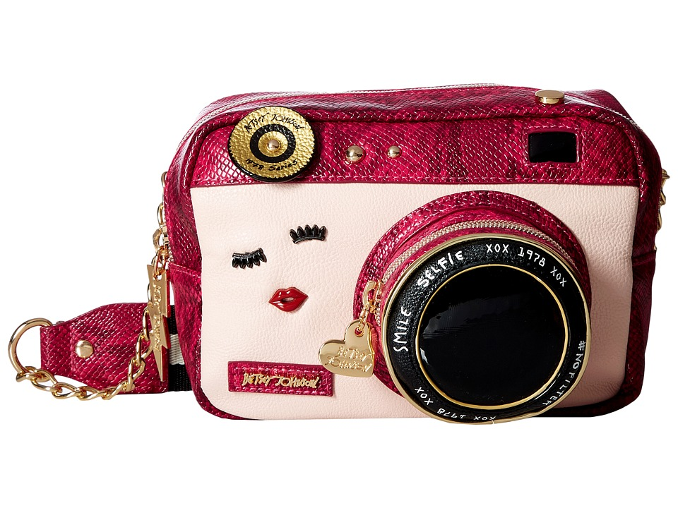 Betsey Johnson - Close Up Crossbody (Fuchsia) Cross Body Handbags