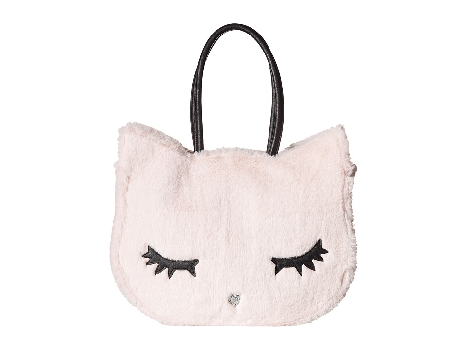 Luv Betsey - Alley Kitch Plush Cat Tote (Blush) Tote Handbags