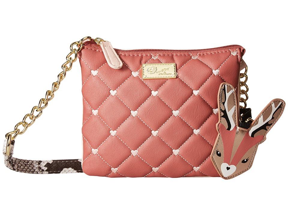 Luv Betsey - Double Triple Crossbody (Blush/Sand) Cross Body Handbags