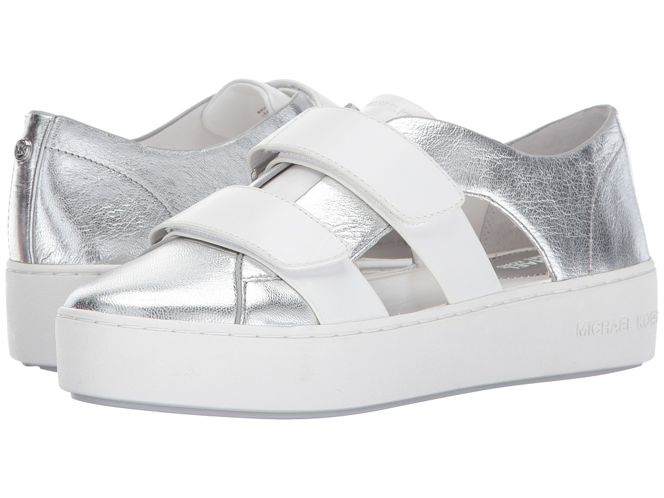 MICHAEL Michael Kors Beckett Sneaker (Silver/Optic White) Women