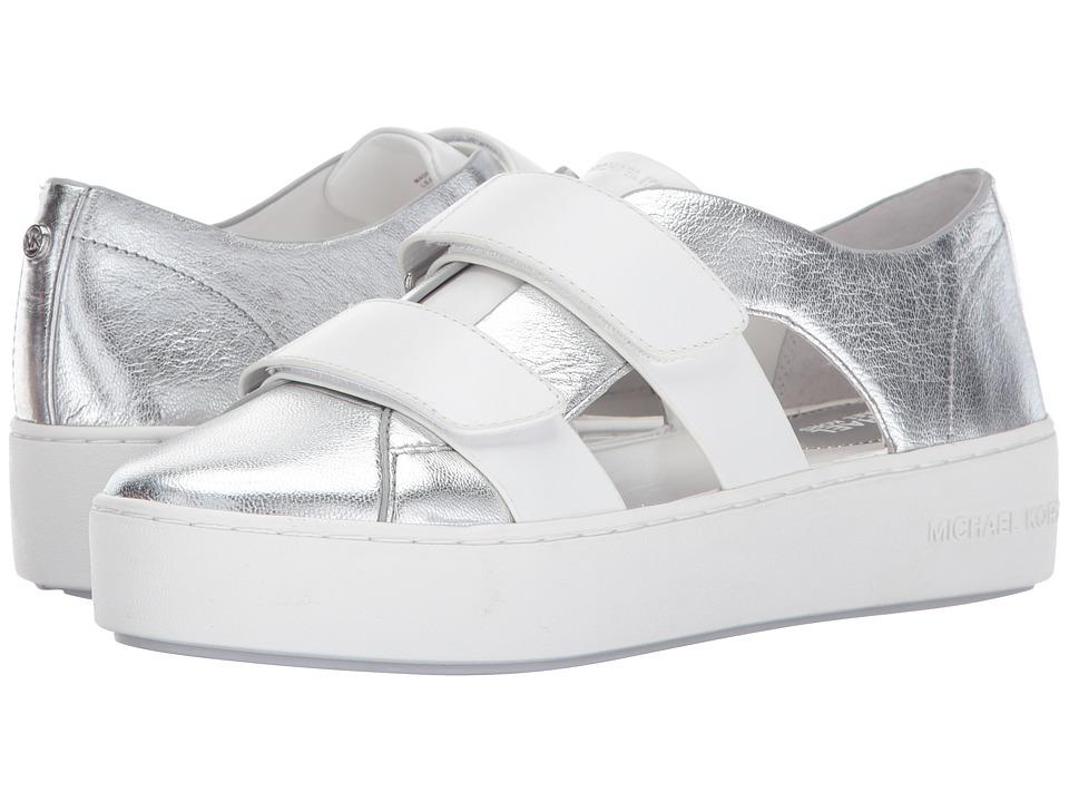 MICHAEL Michael Kors Beckett Sneaker (Silver/Optic White) Women