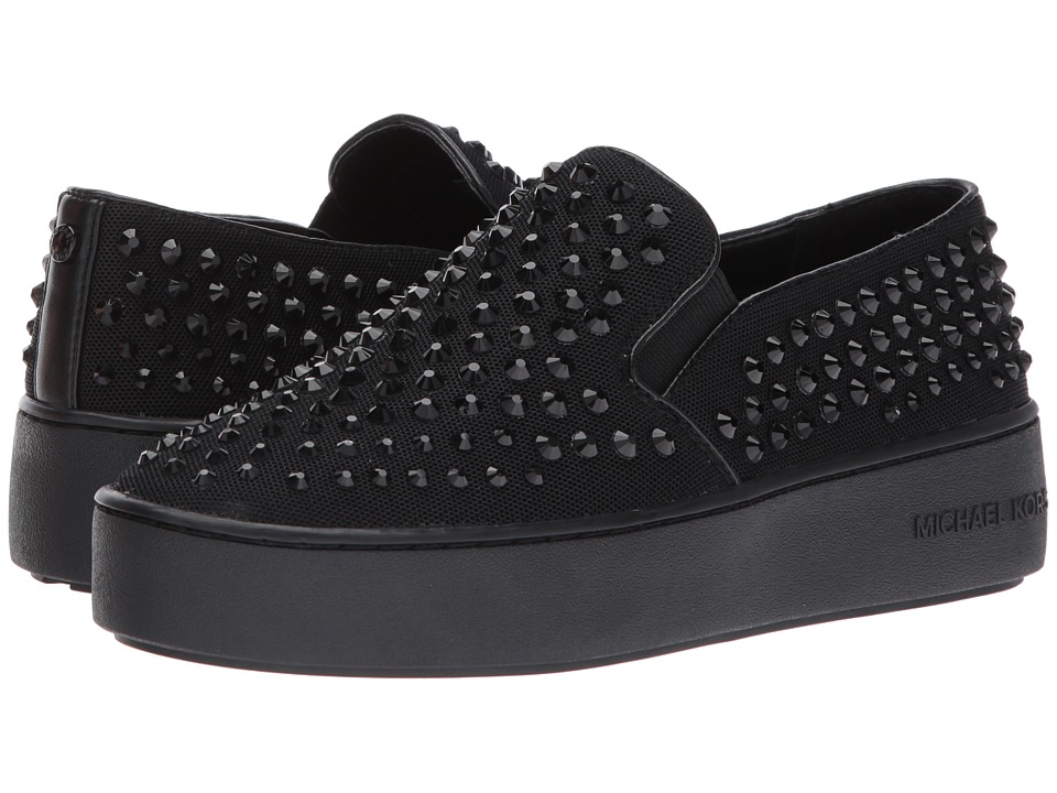 MICHAEL Michael Kors - Trent Slip-On (Black/Black) Women's Slip on Shoes