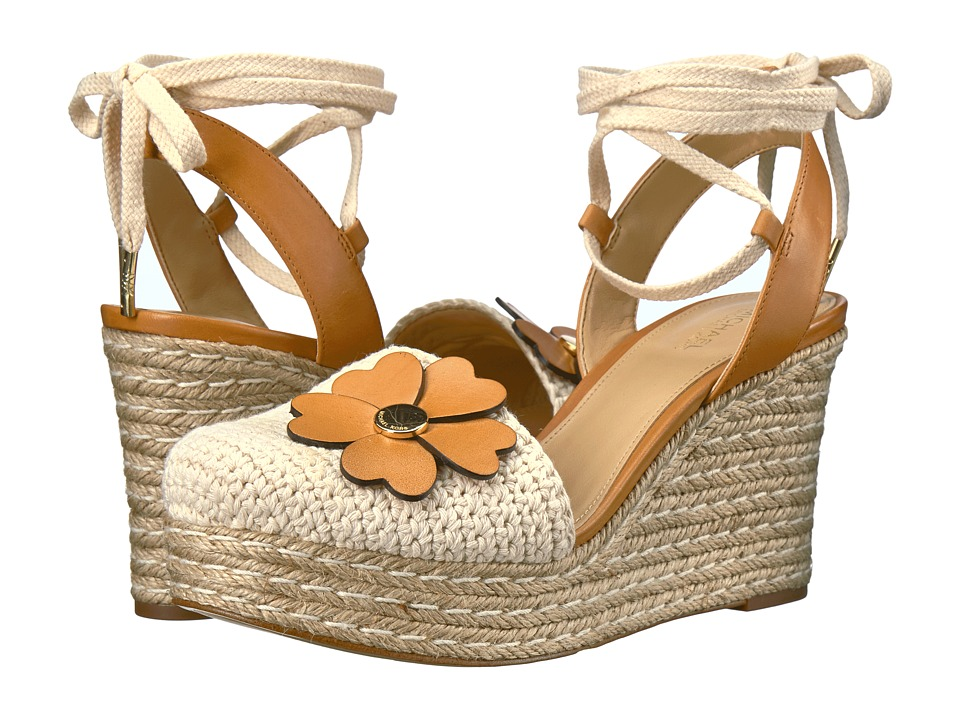 MICHAEL Michael Kors - Kit Closed Toe Wedge (Natural/Acorn) Women's Wedge Shoes