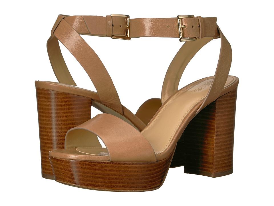 MICHAEL Michael Kors - Leonora Ankle Strap (Cashew) Women's Wedge Shoes