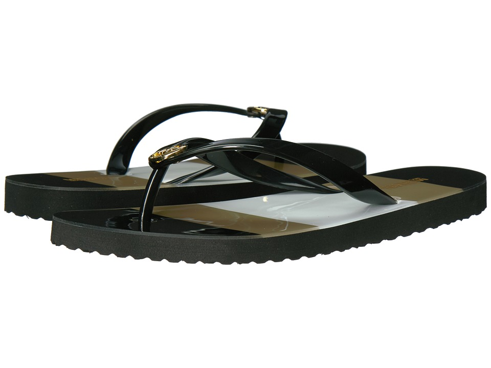 MICHAEL Michael Kors - MK Flip-Flop Shiny (Black) Women's Sandals