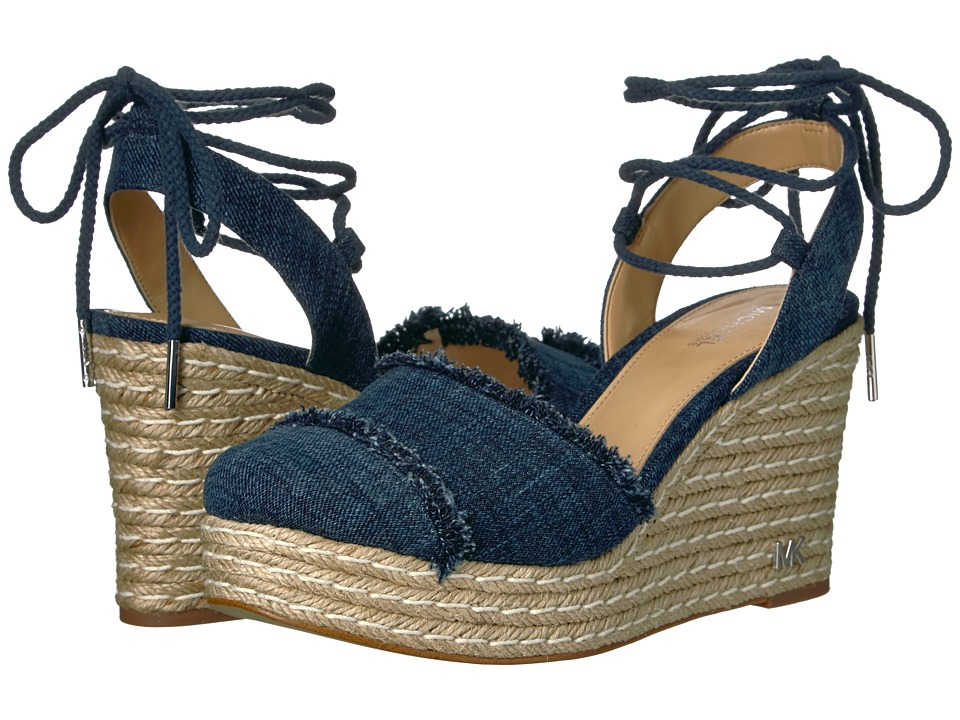 MICHAEL Michael Kors Tibby Closed Toe Wedge Indigo Wedge Shoes