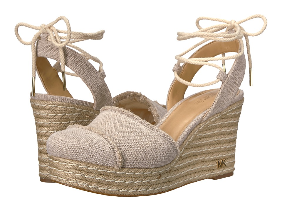 MICHAEL Michael Kors - Tibby Closed Toe Wedge (Natural) Women's Wedge Shoes