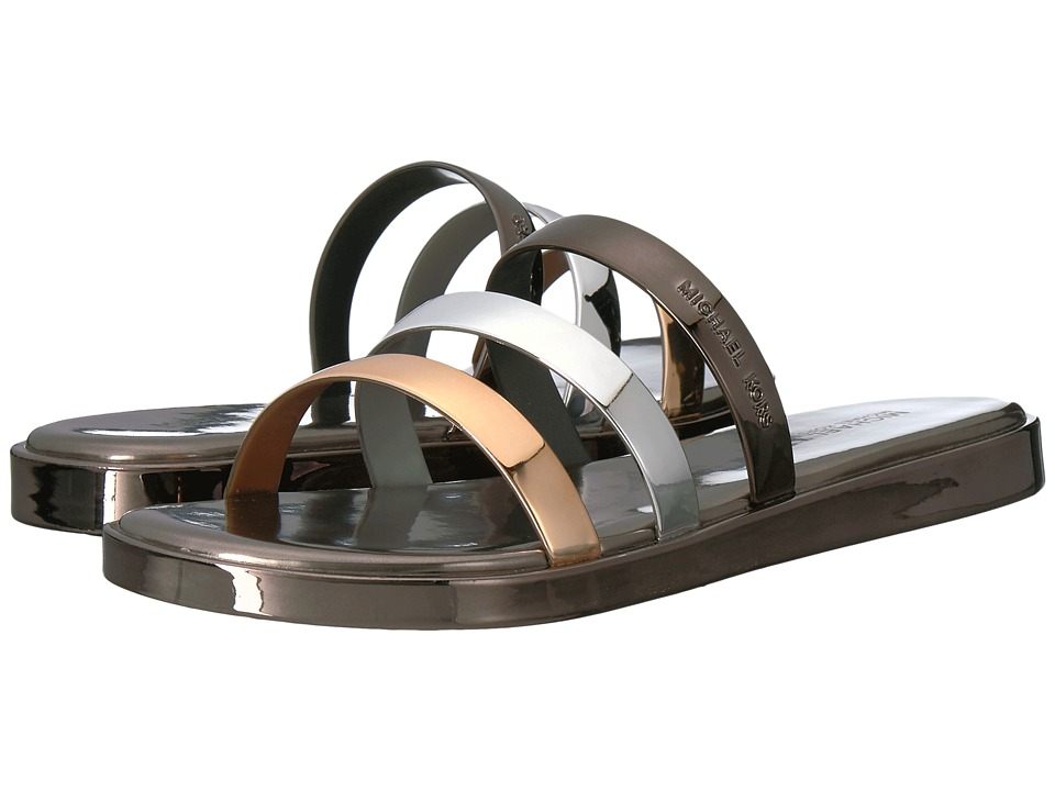 MICHAEL Michael Kors - Keiko Slide (Gunmetal/Silver) Women's Slide Shoes