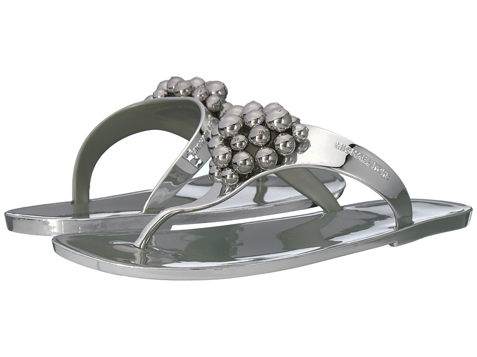 MICHAEL Michael Kors - Kirby Jelly Thong (Silver) Women's Sandals
