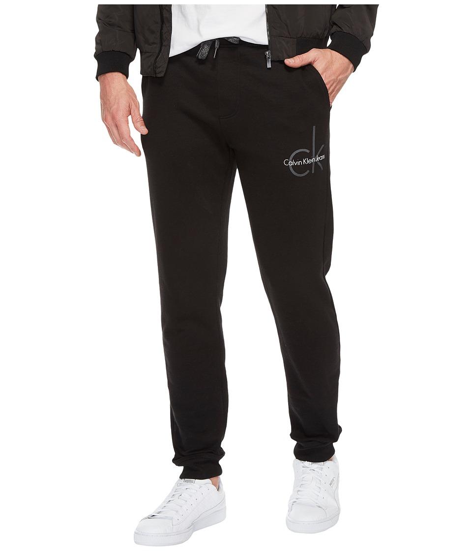 Calvin Klein Jeans CK Logo Sweatpants (Black Combo) Men