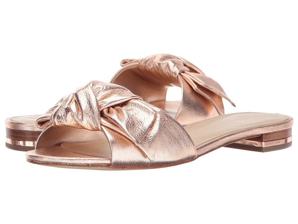 MICHAEL Michael Kors - Willa Slide (Rose Gold) Women's Slide Shoes