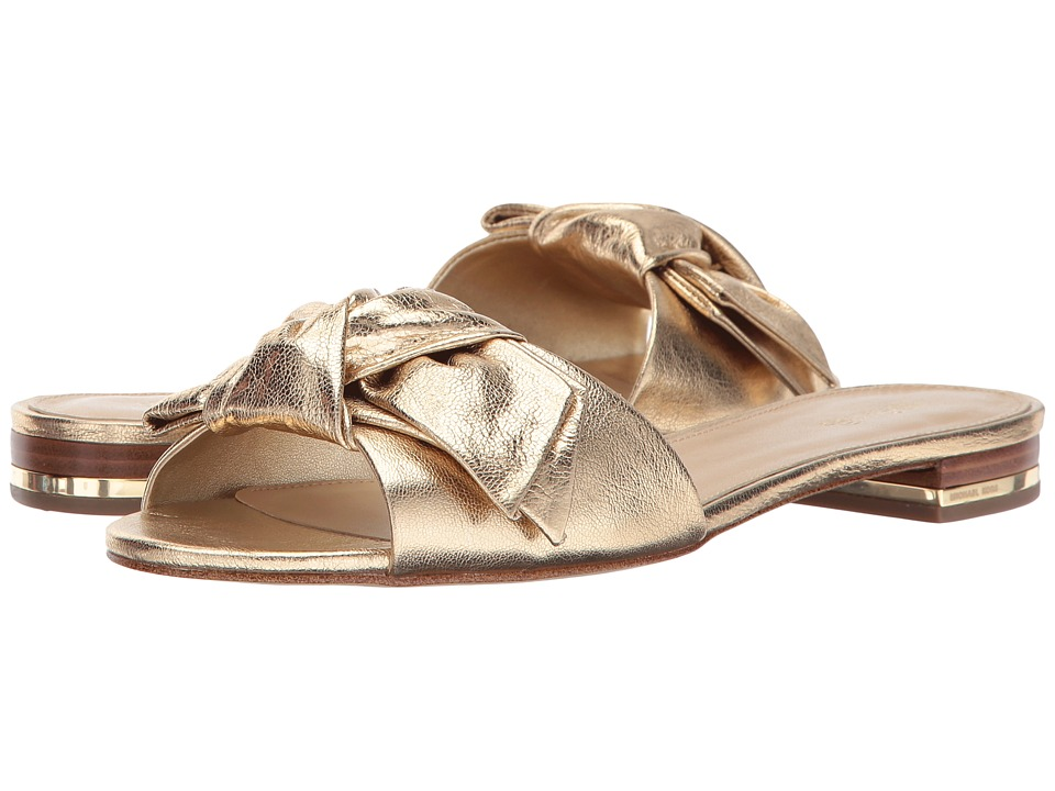 MICHAEL Michael Kors - Willa Slide (Pale Gold) Women's Slide Shoes
